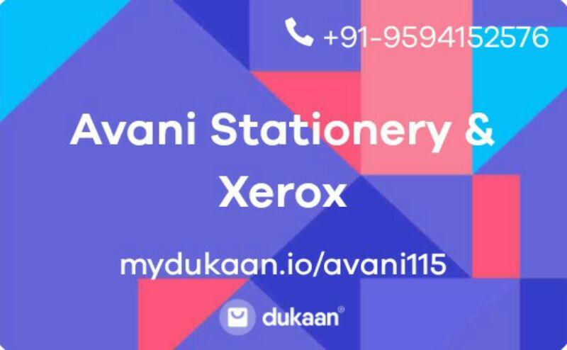 Avani Stationery & Xerox