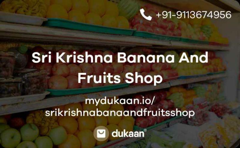 Sri Krishna Banana And Fruits Shop