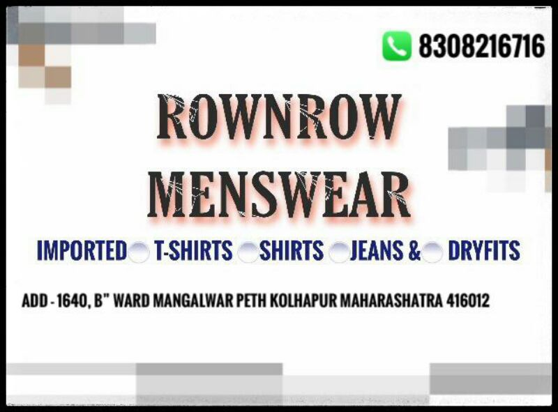 ROWNROW MENSWEAR