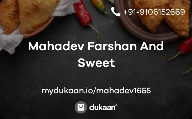 Mahadev Farshan And Sweet