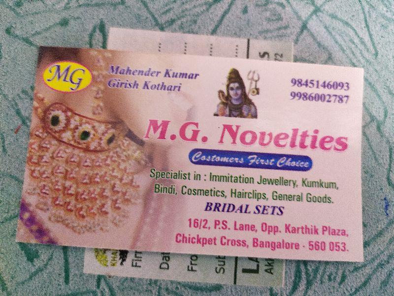 Mg Novelties
